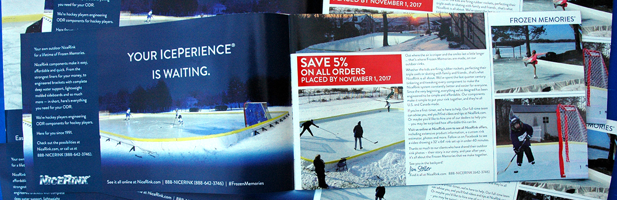 NiceRink catalogue for 2018 season