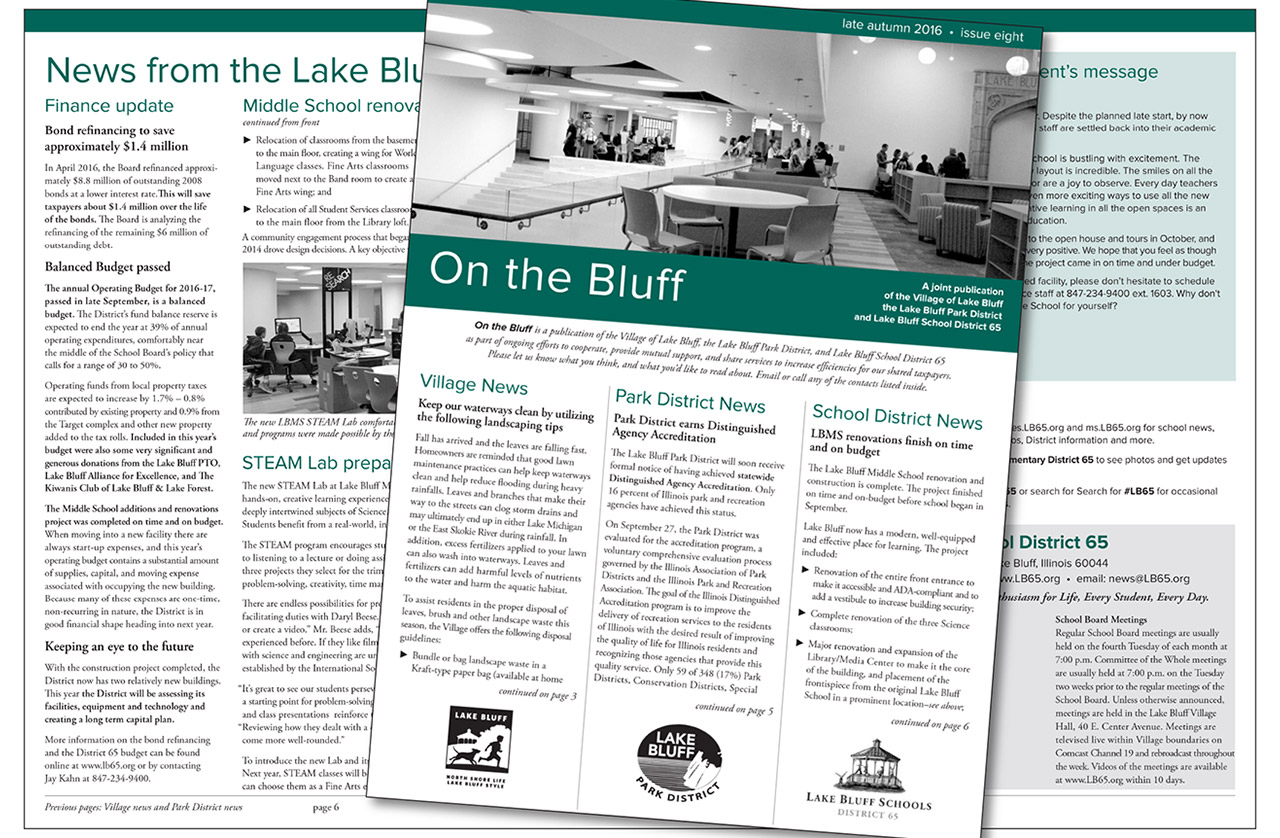 On the Bluff newsletter