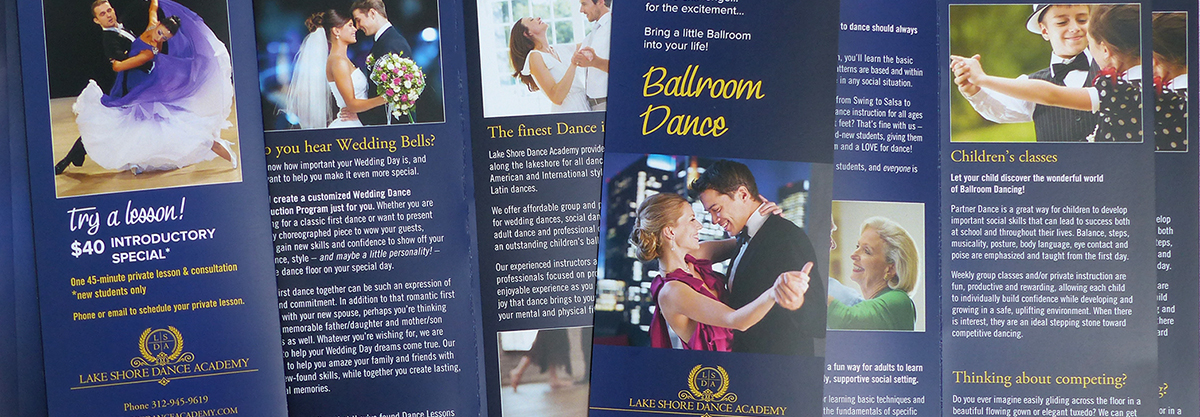 Lake Shore Dance Academy trifold brochure